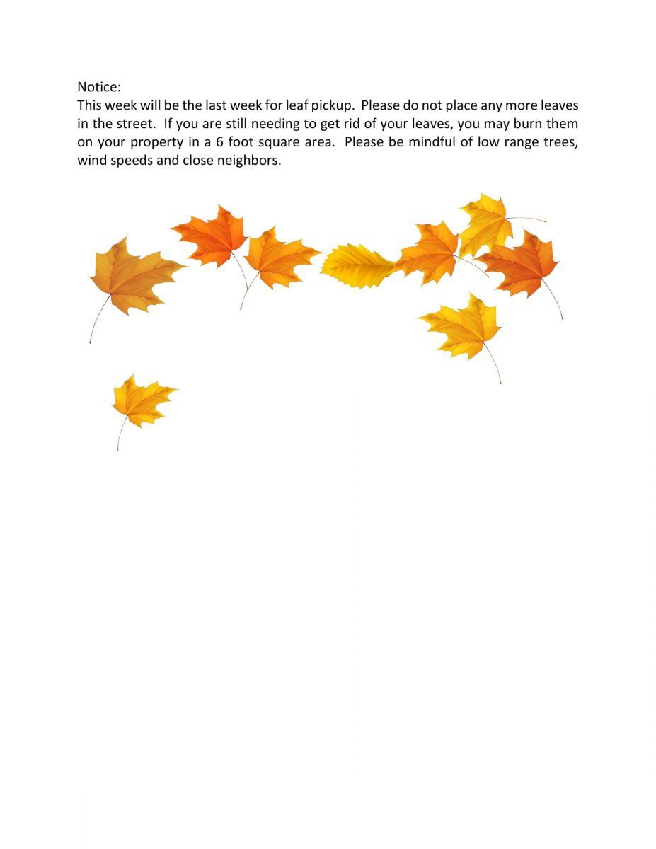 Leaf Notice